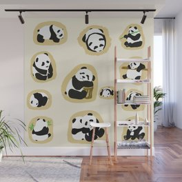 Panda Shows Wall Mural