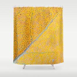 Orange Leaf Veins Shower Curtain