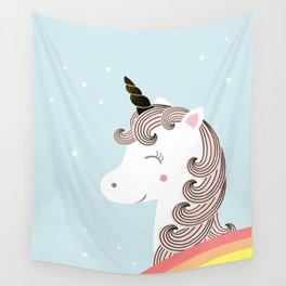 Unicorn and rainbow Wall Tapestry