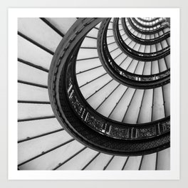 Rookery Stairs Art Print