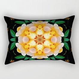 Yellow flower motif Rectangular Pillow