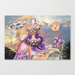 Inner Journey of Jester Buttons Canvas Print