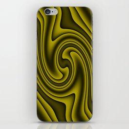 Cosmic Gold Twirls iPhone Skin