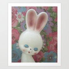 White Hare Art Print