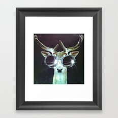 Deer in Headlights Framed Art Print