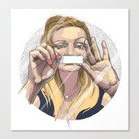 silent Canvas Prints featuring Silent by Katarzyna Urbaniak