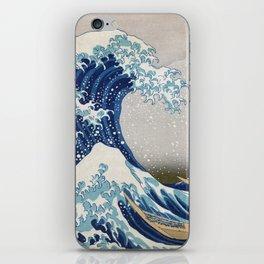 Under the Wave off Kanagawa - The Great Wave - Katsushika Hokusai iPhone Skin