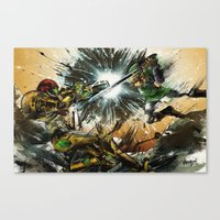 battlefield Canvas Prints featuring The Battlefield by Fresh Doodle - JP Valderrama