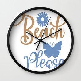 Beach please - Adventure Design Wall Clock