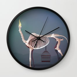 the flame and the grudge Wall Clock