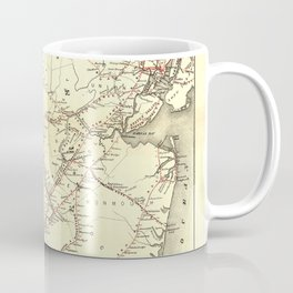 Vintage New Jersey Railroad Map (1869) Coffee Mug