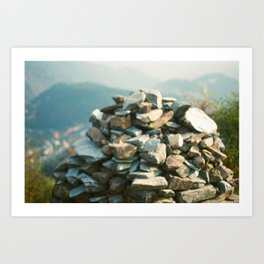 Tibetan Prayer Mound Art Print