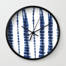 Indigo Blue Tie Dye Delight Wall Clock