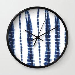 Indigo Blue Tie Dye Delight Wall Clock