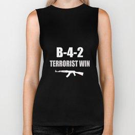 B42 TERRORIST WIN Biker Tank