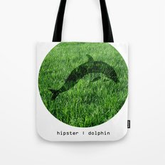 Hipster Dolphin. Tote Bag