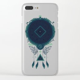 Cosmic Dreaming Clear iPhone Case