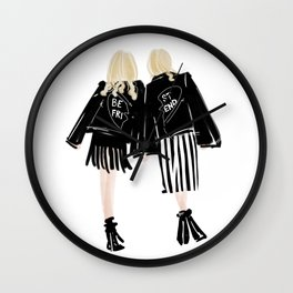 Fashionable Best Friend Holding Hand Wall Clock