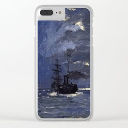 Claude Monet - A Seascape, Shipping by Moonlight Clear iPhone Case