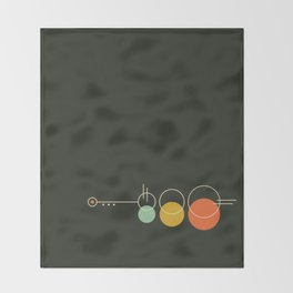 Mid Geo 02 // Mid Century Modern Minimalist Illustration Throw Blanket