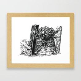 Inktober 2018: Double Framed Art Print