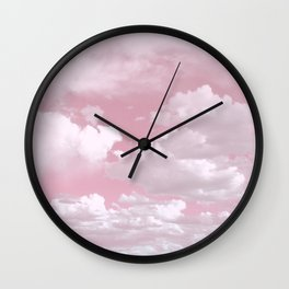 Clouds in a Pink Sky Wall Clock