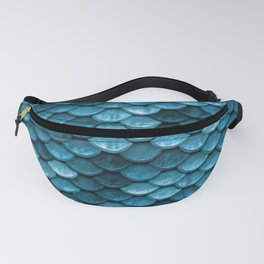 Sparkling Turquoise Mermaid Scales Fanny Pack