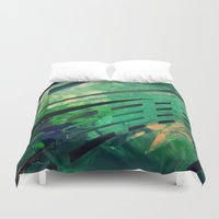 malachite Duvet Covers featuring MALACHITE by Matt Schiermeier