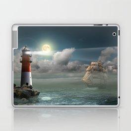 Lighthouse Under Back Light Laptop & iPad Skin