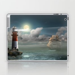 Lighthouse Under Back Light Laptop & iPad Skin
