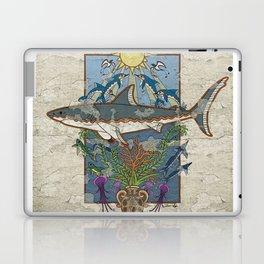 Great White Guardian - Minoan Fresco Laptop & iPad Skin