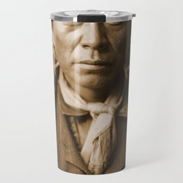 Native American Apache Portrait by Edward Curtis, 1904 Travel Mug