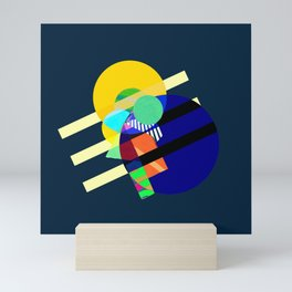 "Collage: ""Blue Page 3"" Mini Art Print"