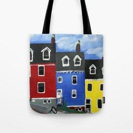 Newfoundland Houses Canada acrylics on canvas Tote Bag