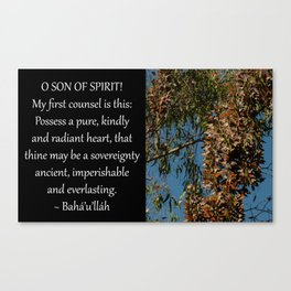 Possess A Pure, Kindly and Radiant Heart Canvas Print