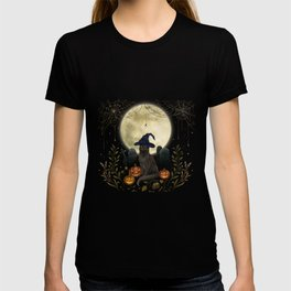 The Black Cat on Halloween Night T-shirt