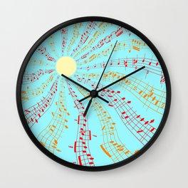 Music Brightens the World Wall Clock