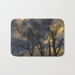 Enchanting Nighttime Trees and Sky Bath Mat