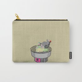 RABBITS AND ROOSTER ON COTTON CANDY MACHINE Carry-All Pouch