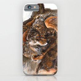 Wolf Mom iPhone Case