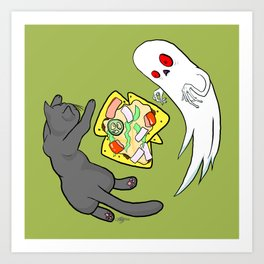 Nachos, Cats, and Ghosts Art Print