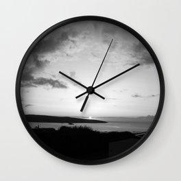Black/White Sunset Wall Clock