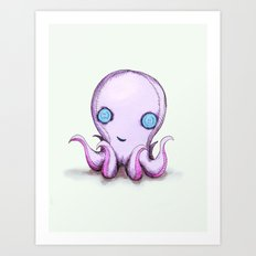 Octoplush Art Print