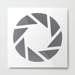 Camera Aperture Metal Print