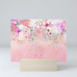 Botanical Fragrances in Blush Cloud-Ιmmersed Mini Art Print
