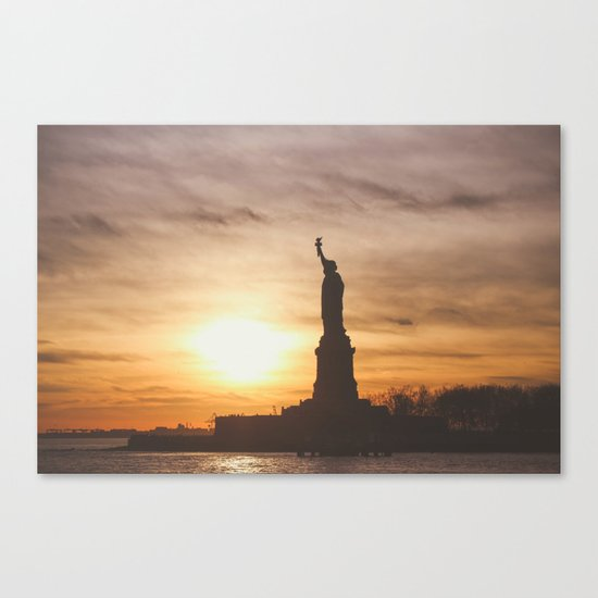 Lady at Sunset Canvas Print