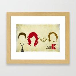 Lazer Katz Minimal Design Framed Art Print