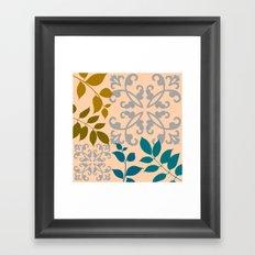 Leaves And Scrolls Framed Art Print
