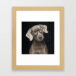Mr Weimaraner Framed Art Print