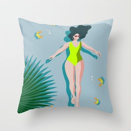 Relax, Recharge and Reflect. Throw Pillow